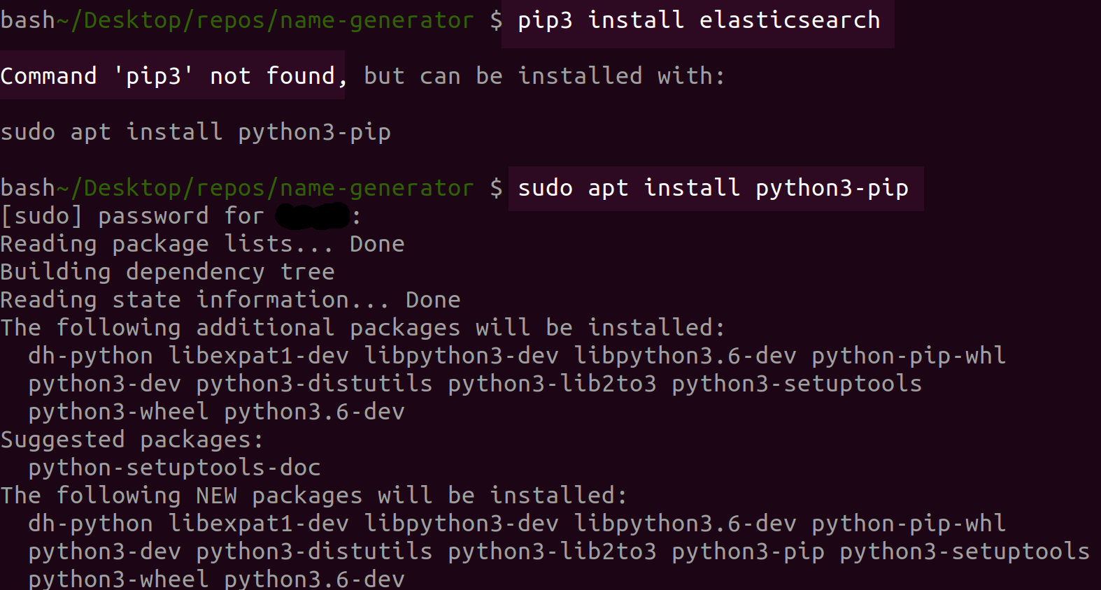 Install the Low-level Python Client for Elasticsearch