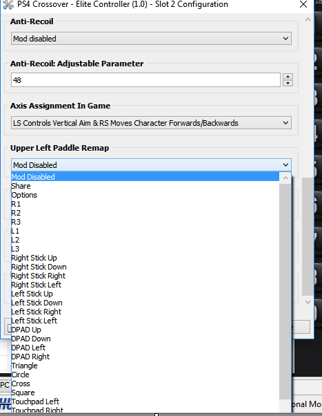 Xbox One Elite Controller Paddle Remap GPC Scripts