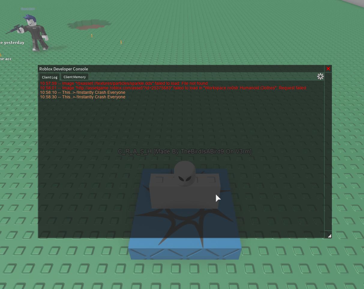 Release]Roblox Crash Script Lua [Updated Now Fixed Errors Work]