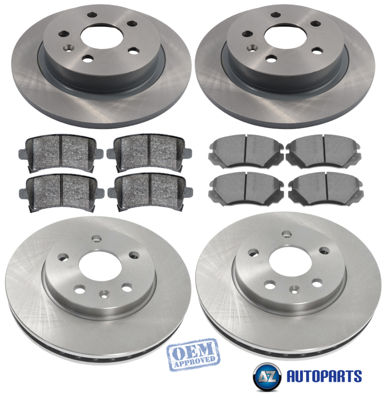 NOT VENTED DISCS CHECK VAUXHALL INSIGNIA 2008-2017 REAR 2 SOLID BRAKE DISCS SET