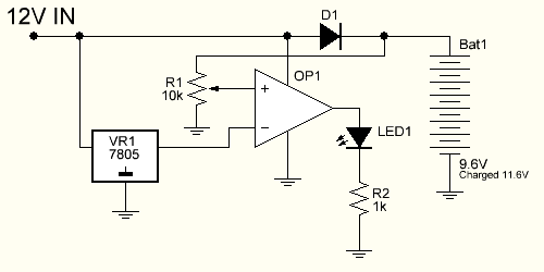 op-amp comparator circuit