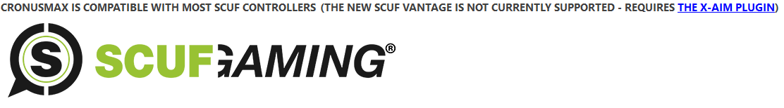 Does CronusMAX work with the Scuf Vantage controller?