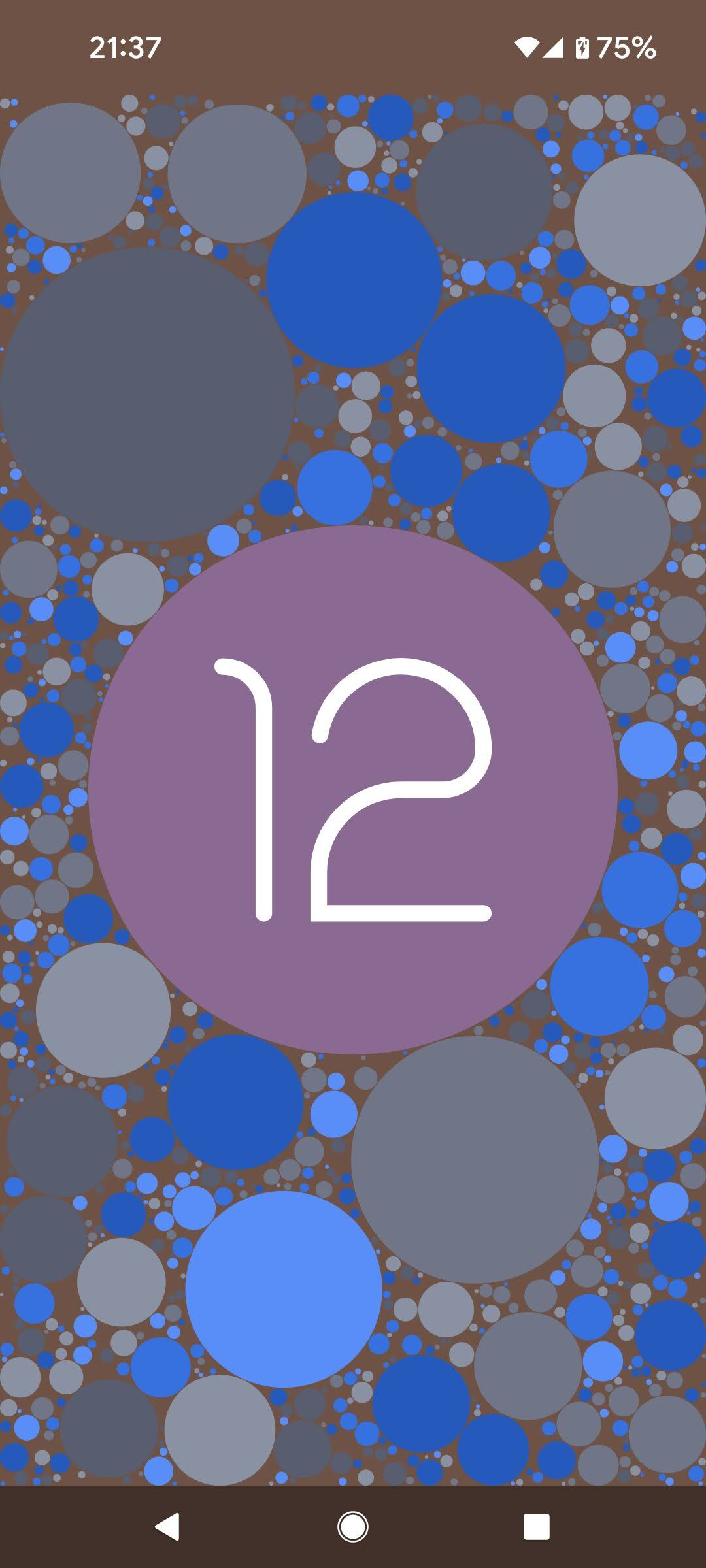[スクリーンショット]Android12のイースターエッグ