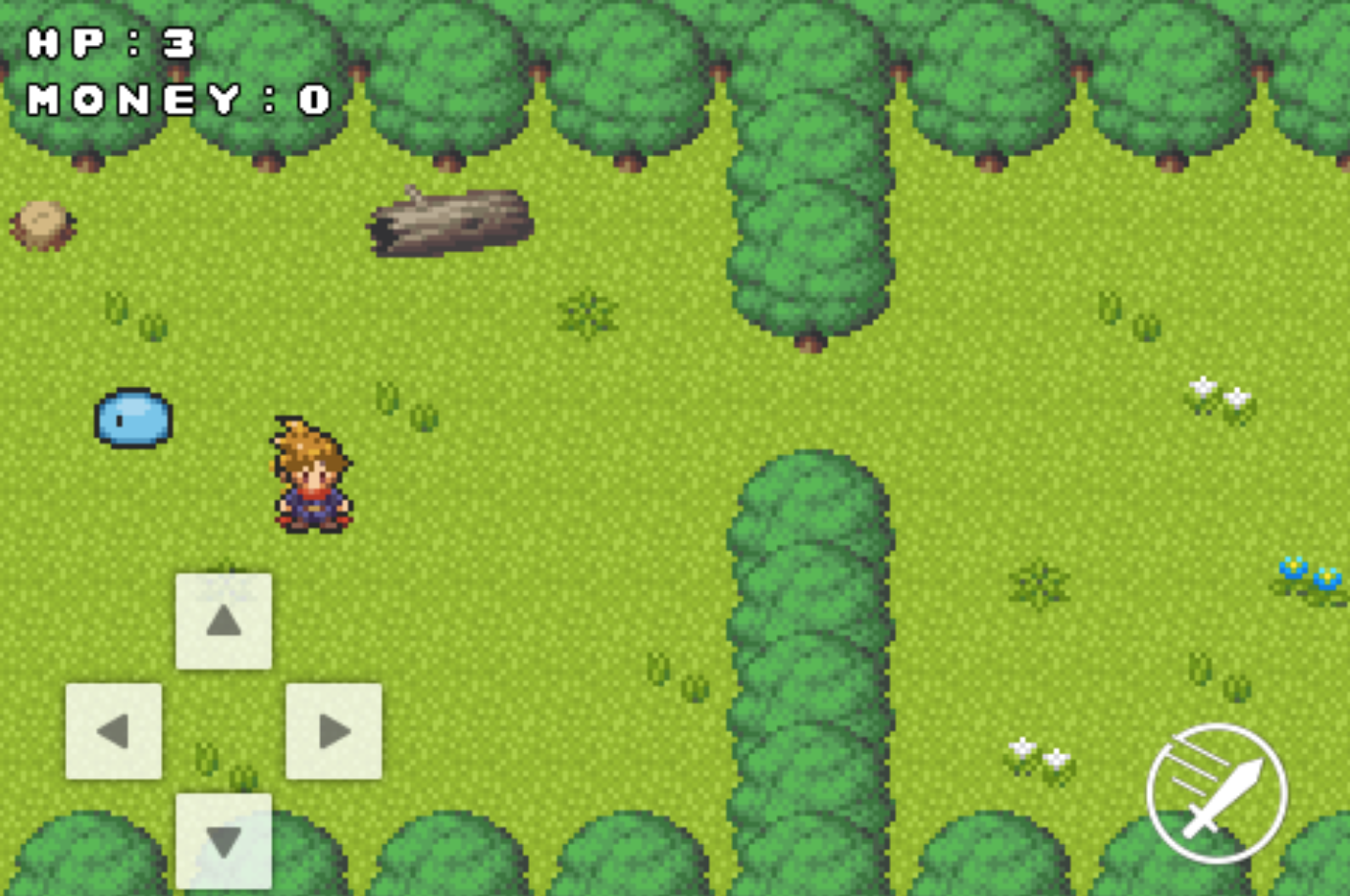 ゲームの背景が森になった