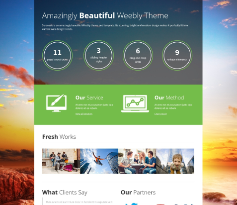 Save money with best Weebly themes – Luck is believing you're lucky