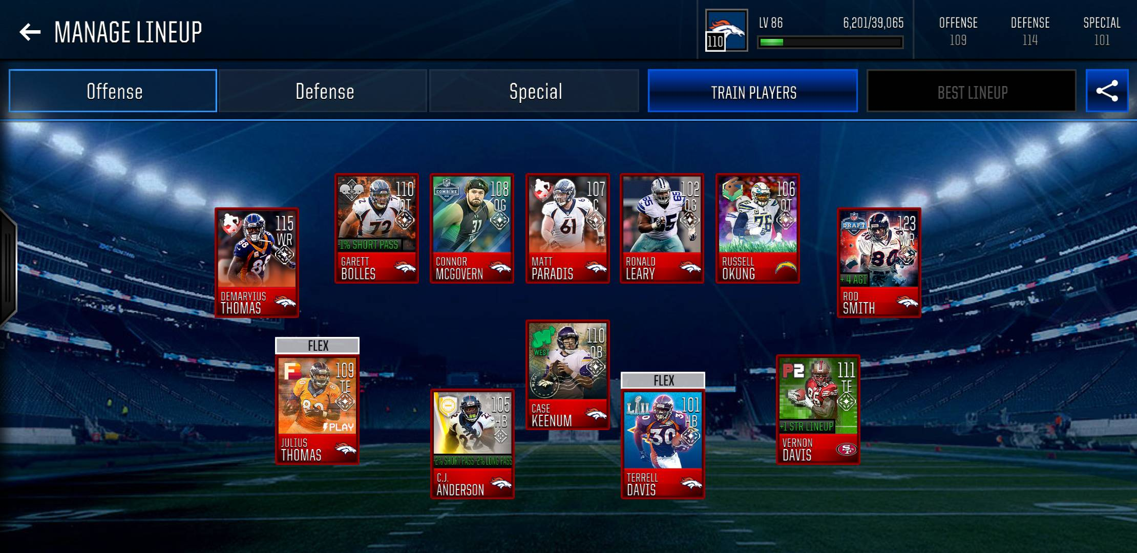 My Broncos Theme Team (Updated) - Madden NFL Mobile