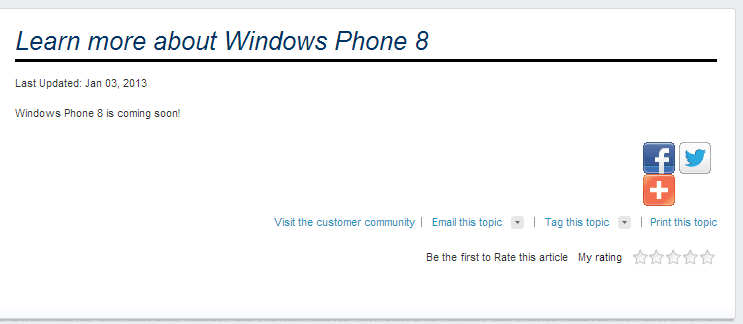 "Sprint Finally Joins the Windows Phone Train; Lists WP8 As ""Coming Soon"""