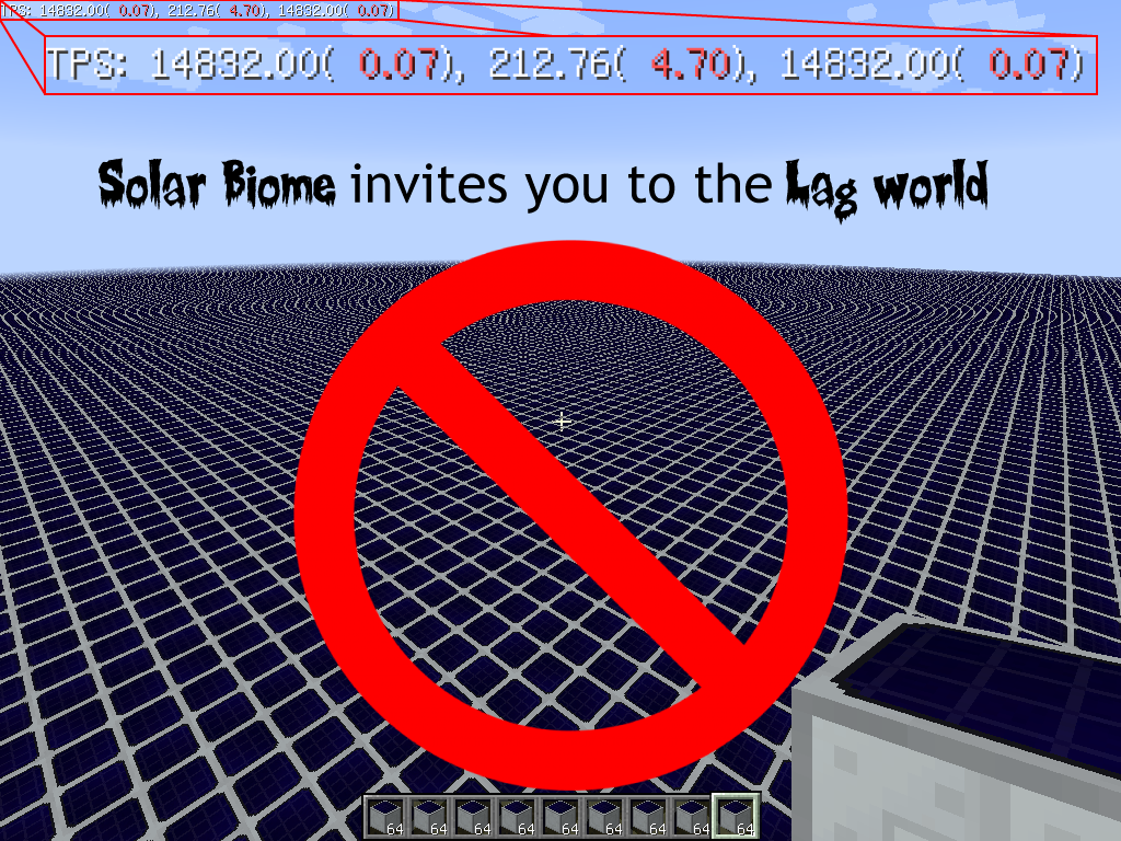 Lag of Solar Biome