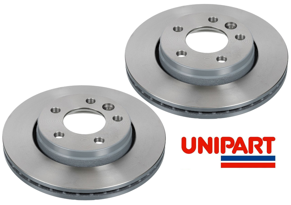 For Volkswagen VW Caravelle Transporter T5 T6 Rear Brake Discs Pair Unipart
