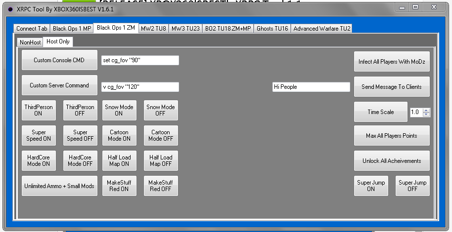 Tools - [RELEASE] XBOX360lSBEST's XRPC Tool 1 6 1 | BO1 TU11
