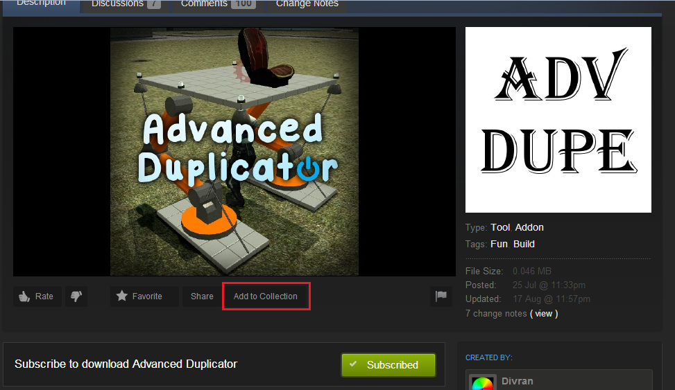 how to add a steam collection to a server