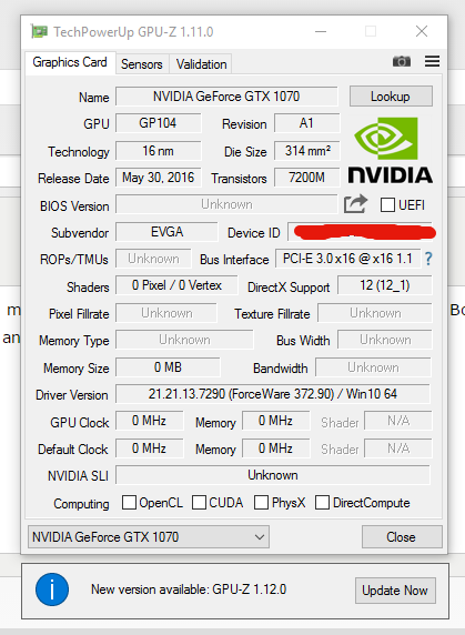 Please help - GTX 1070 SC bricked after BIOS update