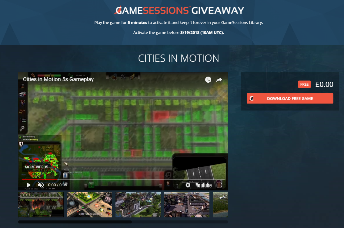 Cities in Motion Giveaway