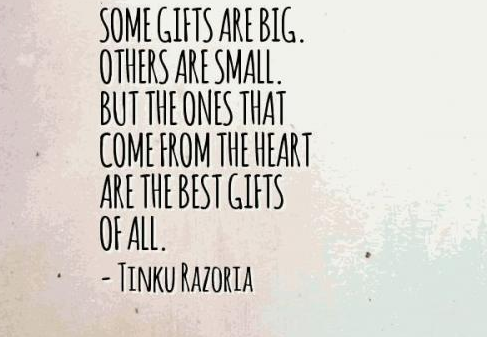 Small gifts quotes some gifts are big other are small but the ones that come from the negle Choice Image