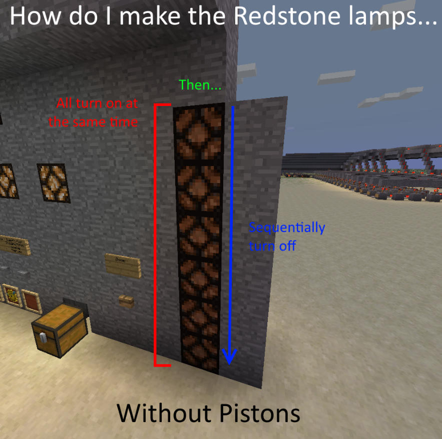Solved redstone lamp countdown redstone discussion and mechanisms or with pistons if there is no other way aloadofball Images