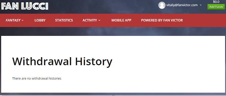 Withdrawal History