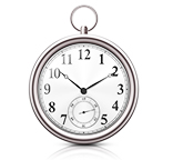 時計は正確に時を刻みます