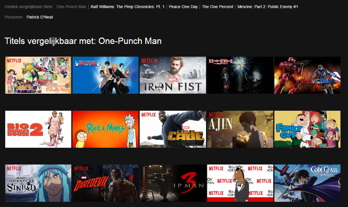 I Can T Seem To Find One Punch Man On Netflix Is It Not Available In All Countries Nl Onepunchman