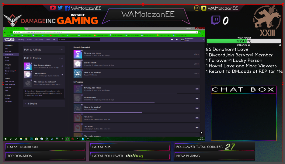 My twitch overlay - Off Topic Discussion - Damage Inc - A