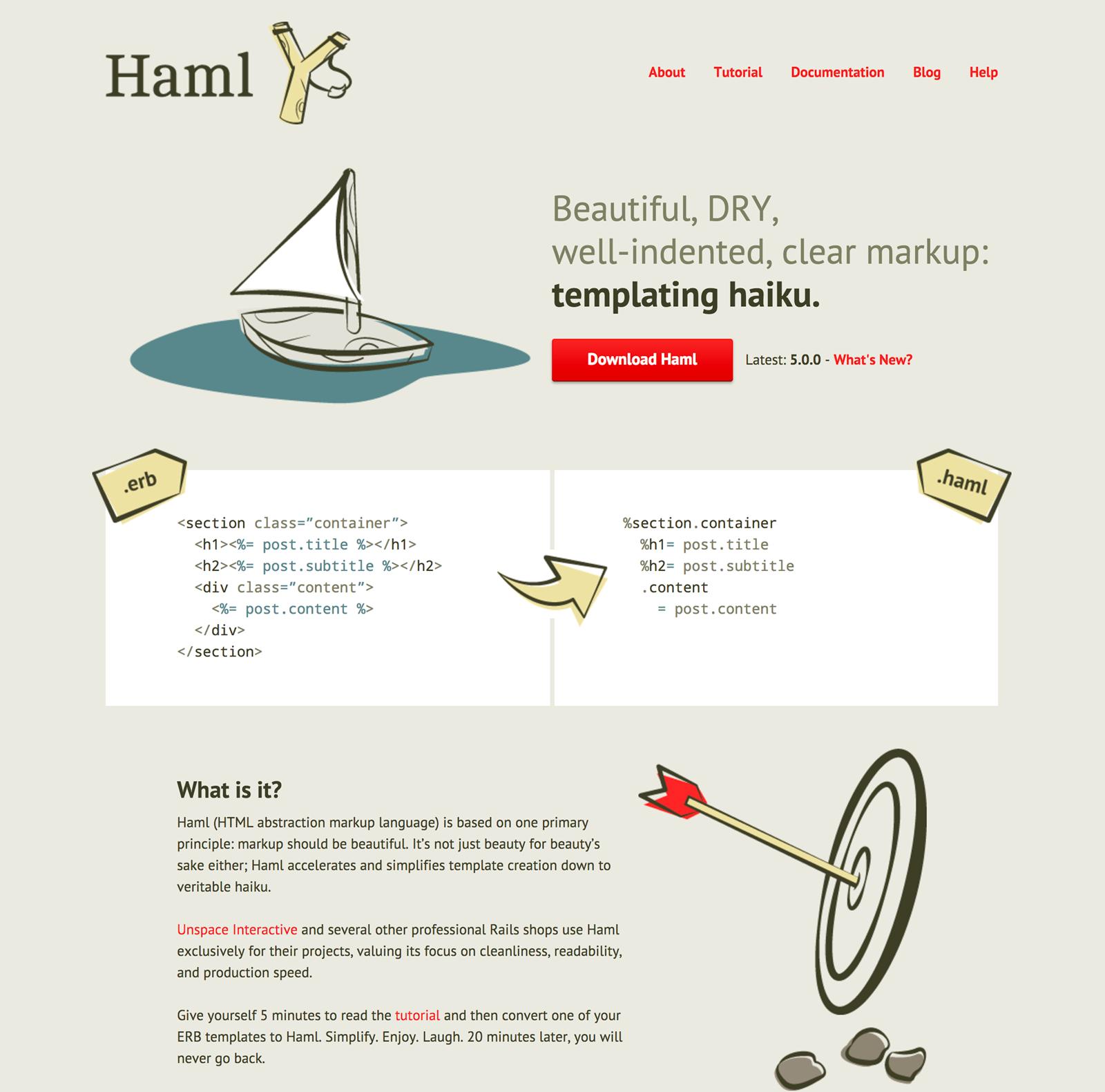 現在のHamlサイト