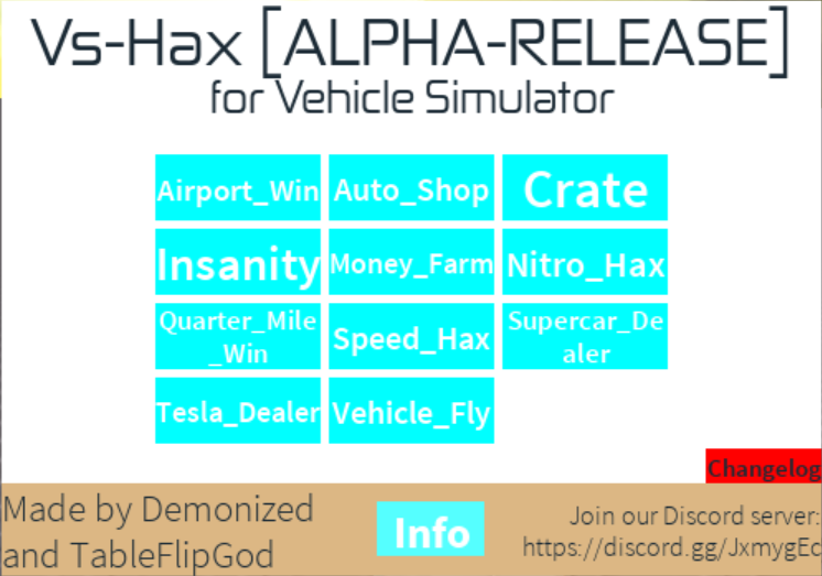 UPDATED/RELEASE] Vs-Hax (GUI for Vehicle Simulator)