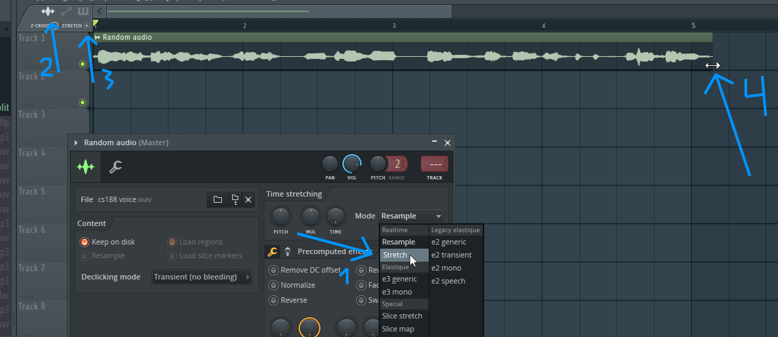 How do i fit my producer tag to match the tempo of tge song - Image-Line
