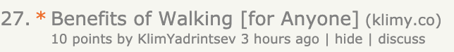 initial front page hacker news