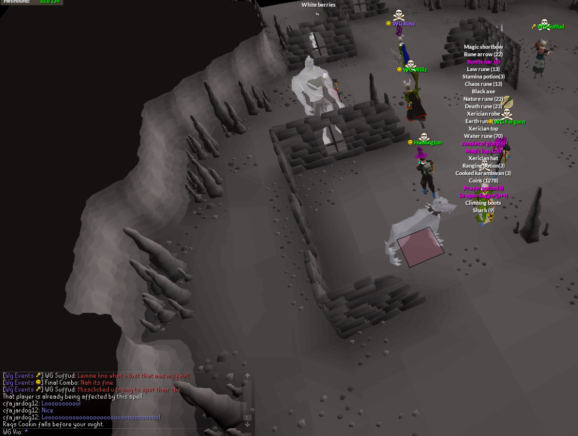 OSRS] WG feasts on iRendual and friends twice, plus others - Clan