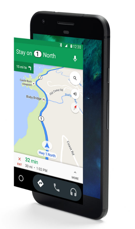 Get turn-by-turn directions and real-time traffic updates. (Image from Android.com