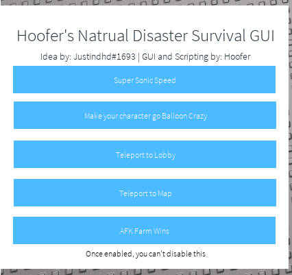 RELEASE | Natural Disaster Survival GUI