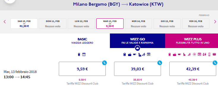 Guarda le offerte voli Wizz Air qui!
