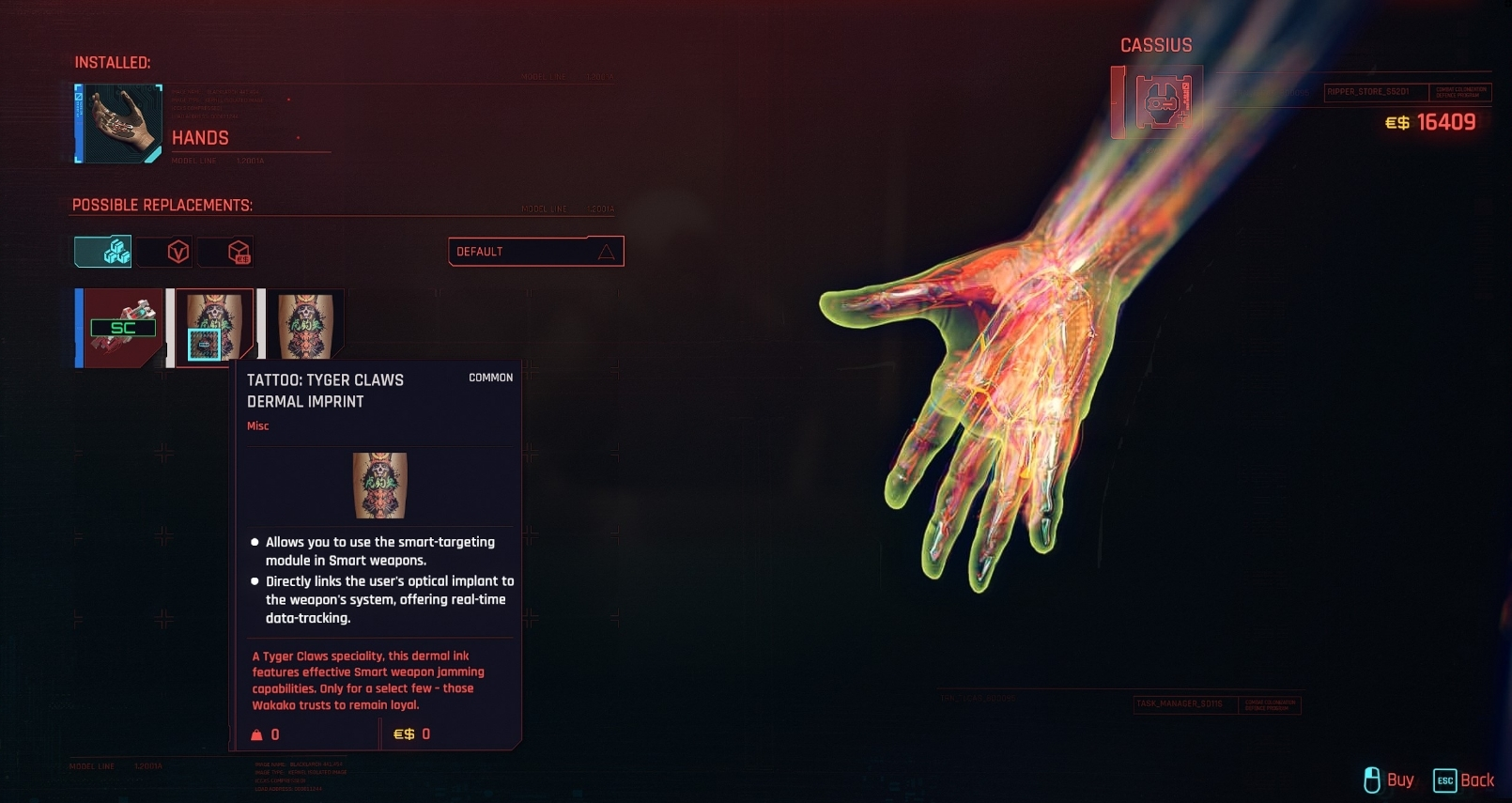 cyberpunk 2077 cassius ryder free reward
