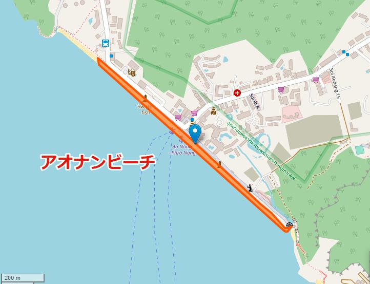 アオナンびーちの地図