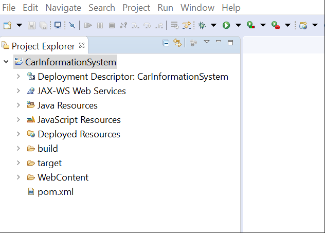 Image shows the new structure of the project directory when converted into Maven Project
