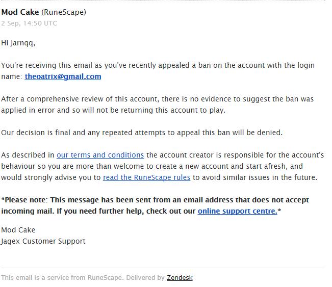 TFW your appeal gets denied - Botting & Bans - OSBot :: 2007