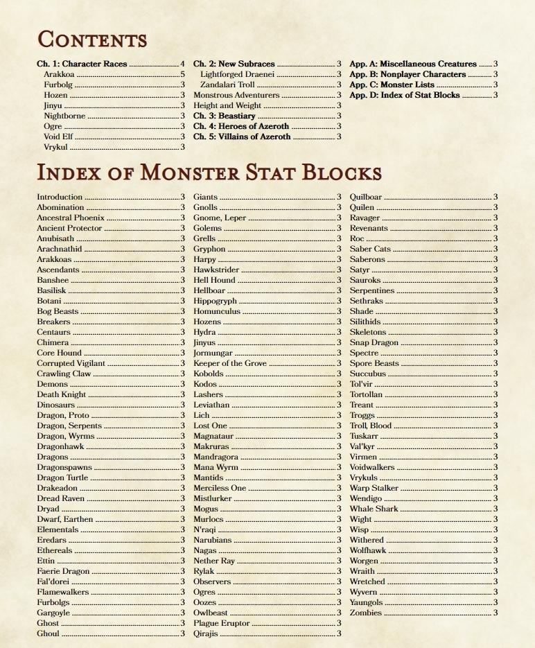 Monster manual hack