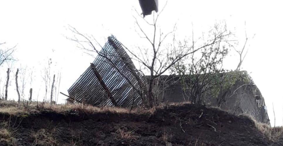Vendaval desprende techos de dos viviendas en Condega