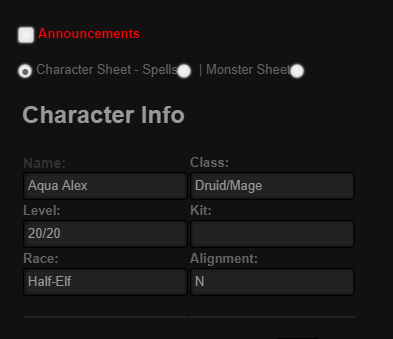 Community Forums: Roll20 added Character Sheets feature