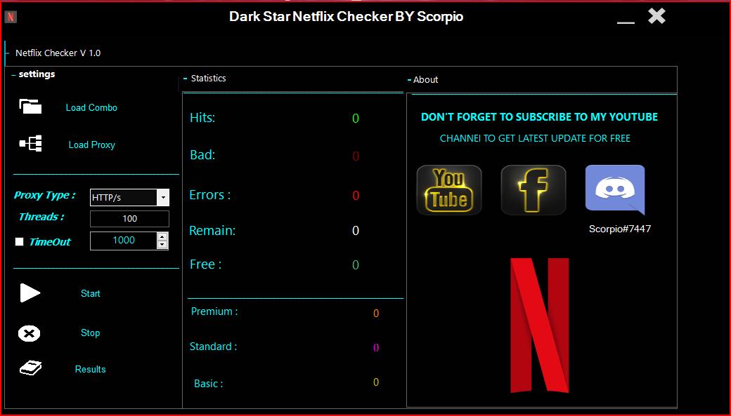 Netflix Account Checker By Scorpio