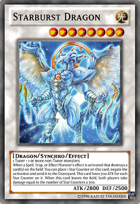 first one starburst dragon the upgraded version of stardust dragonYugioh Cards 5ds Dragons