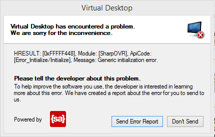 1b50f8e6393 Virtual Desktop issues. Crashes on startup! Help    oculus