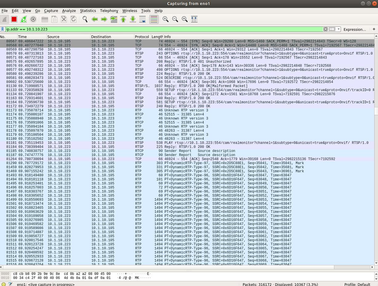FFmpeg TCP Window Full/Zero Window when storage set to h264