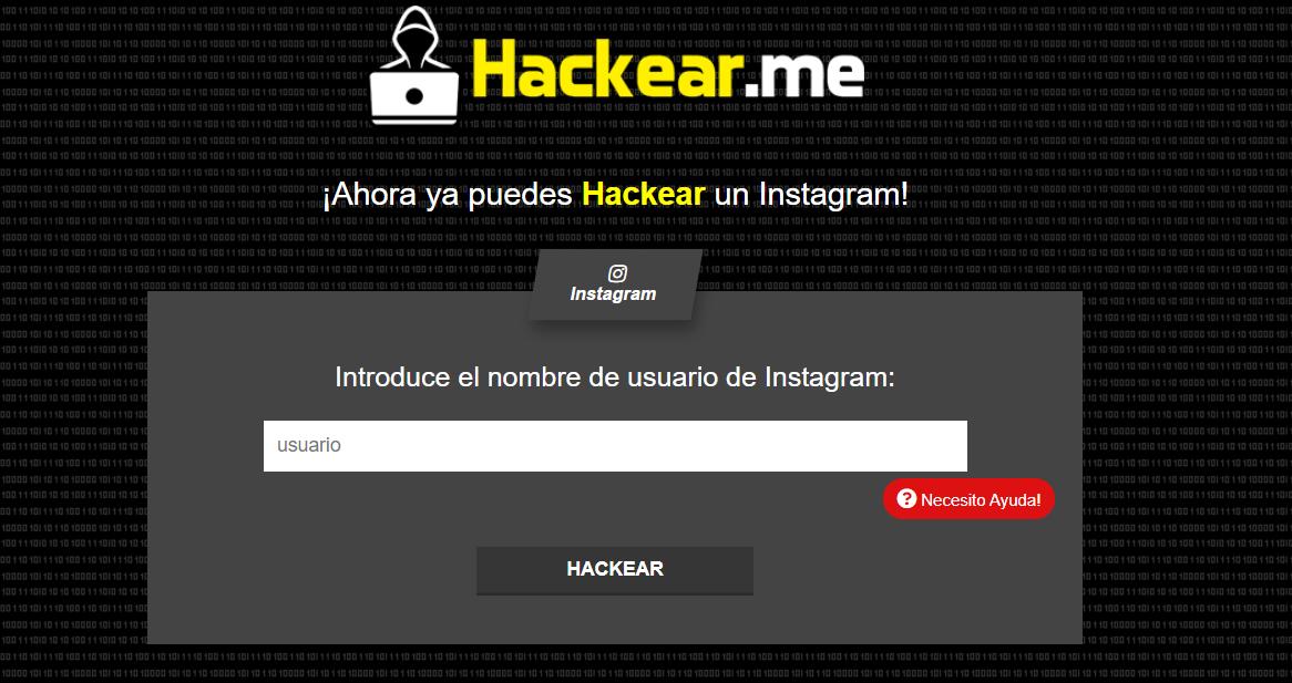 HACKEAR.me plana de Hackeo.