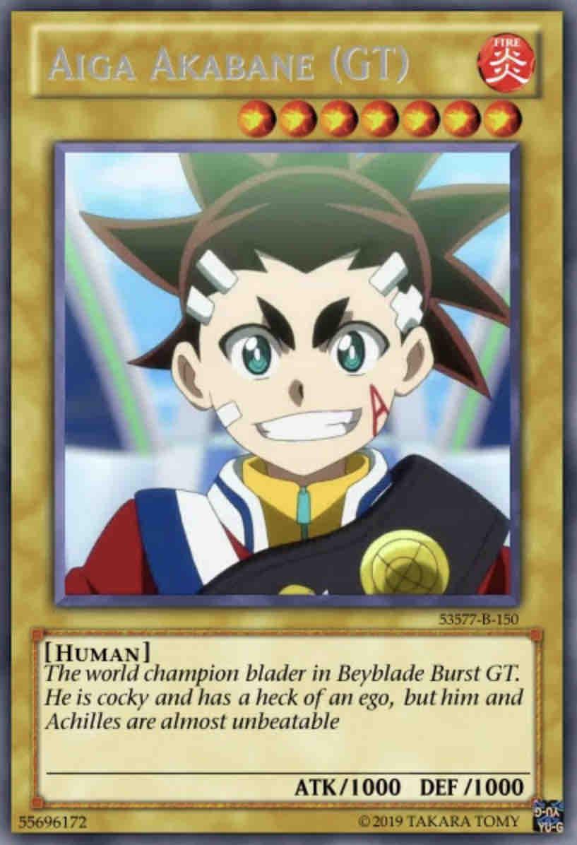 Beyblade Yugioh Cards