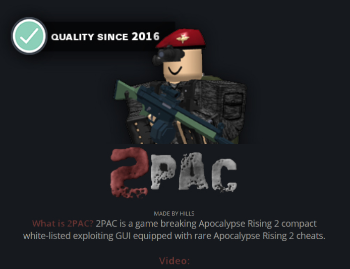 2pac Apocalypse Rising 2 Gui Exploiting Cheat Buddy Forum - how to get roblox hack for apocoleps rizing