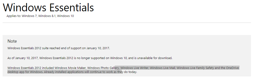 windows live mail download windows 10