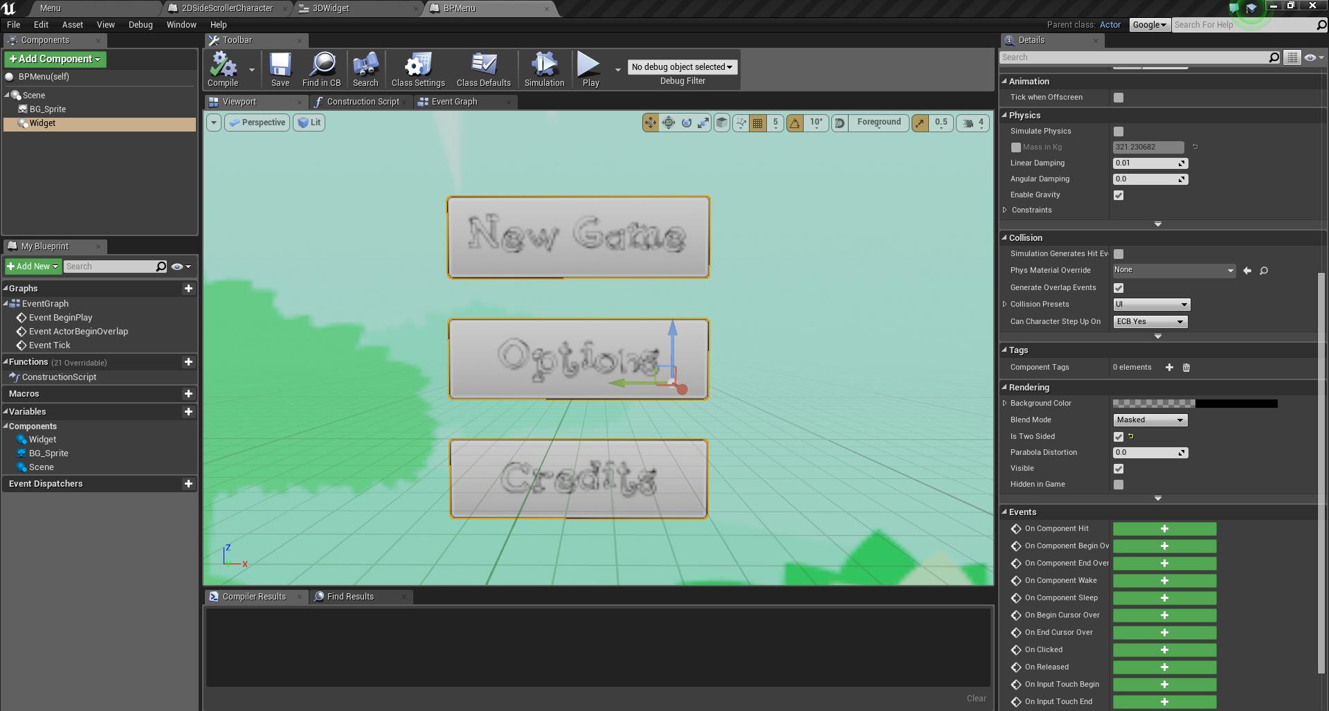 3D UMG Font blurred - UE4 AnswerHub