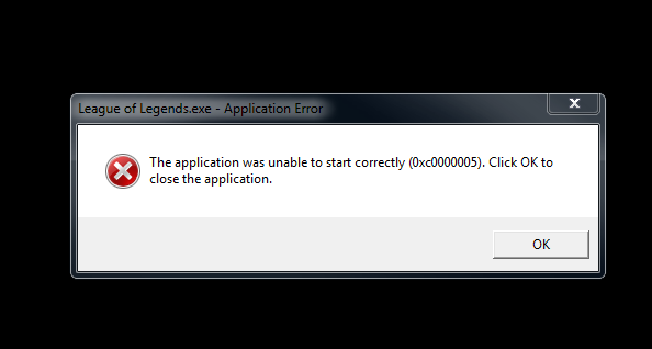 CLIENT], or [CRASH] - The Application was unable to start correctly