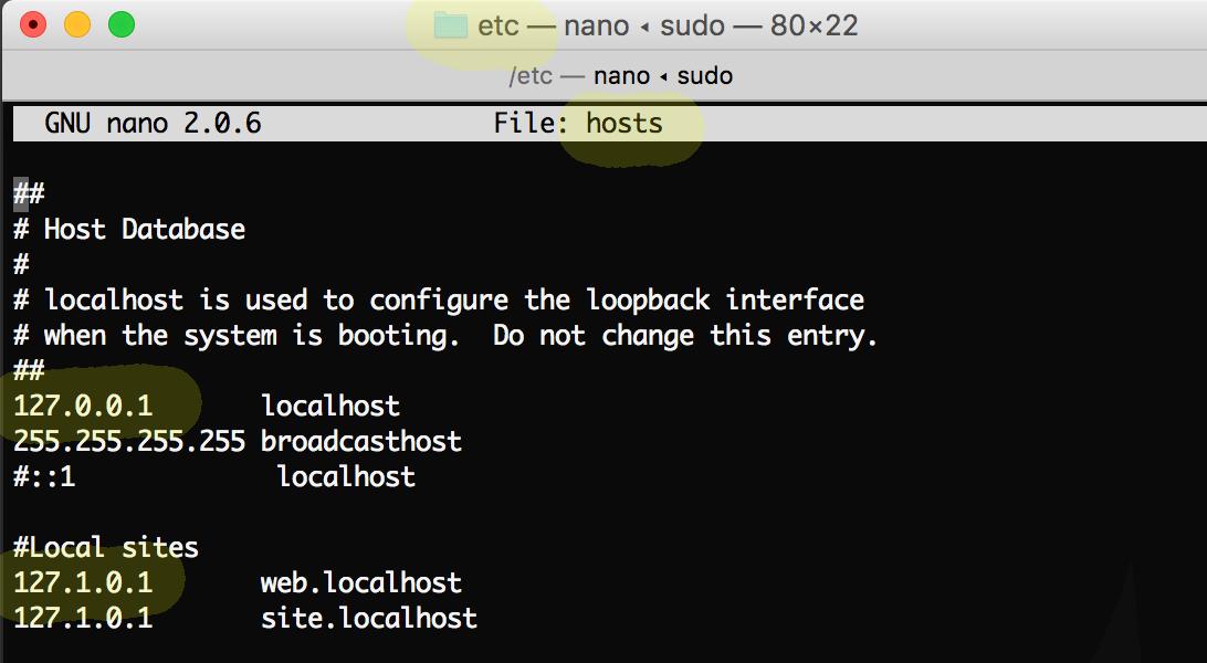 /etc/hosts file
