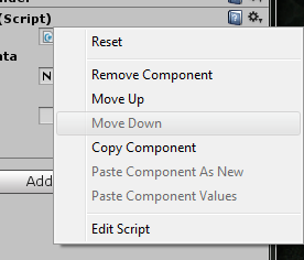 How can I make a small context menu in the inspector